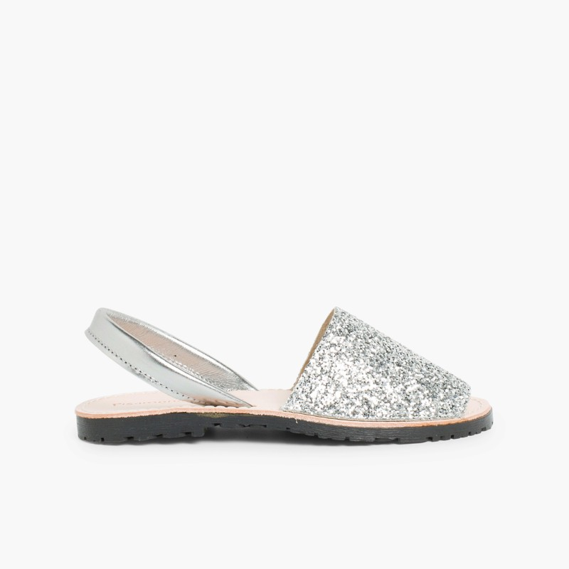 f2054badc5ae Glitter Menorcan Sandals for Girls and Women