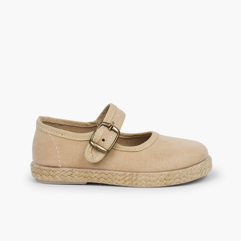 Bamara and Jute Mary Janes with Buckle