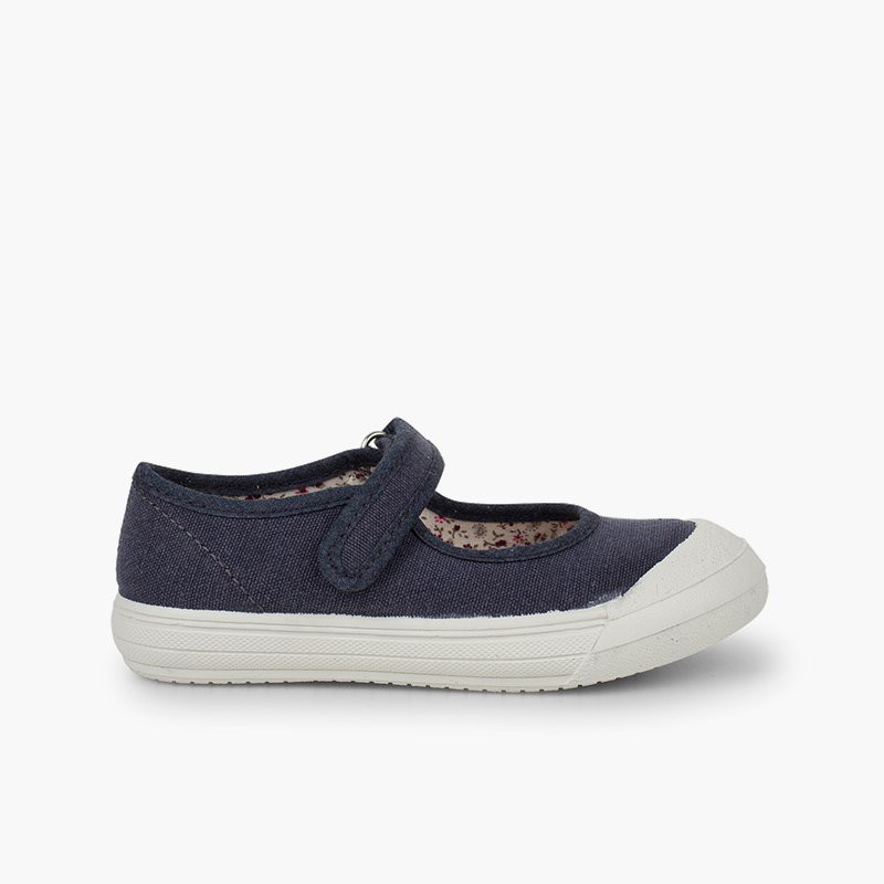 Velcro Mary Janes with Reinforced Rubber Toe