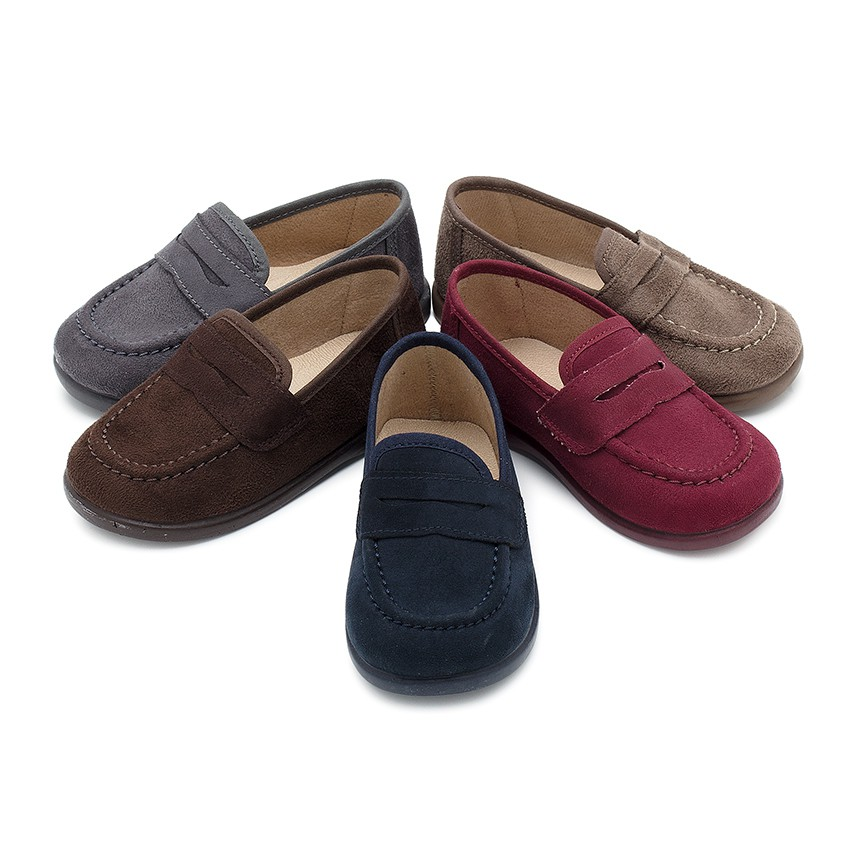 Boys Faux Suede Mask Loafers