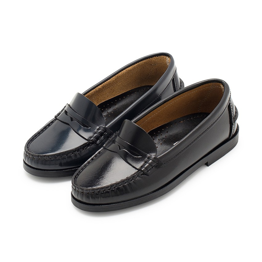 Girls' Leather School Loafers