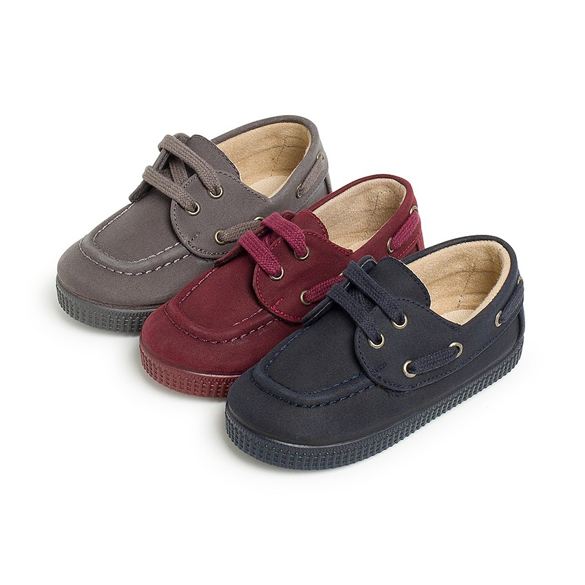 Moccasin Boat Shoes Waxed Canvas With Laces