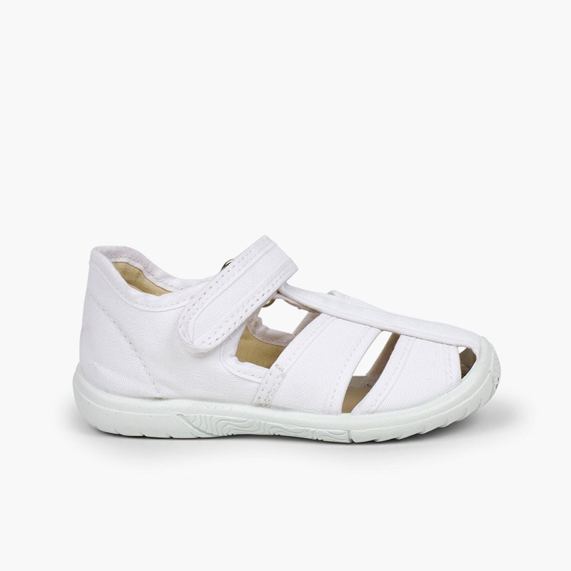 Boys' Velcro T-Bar Sandals with Reinforced Toe