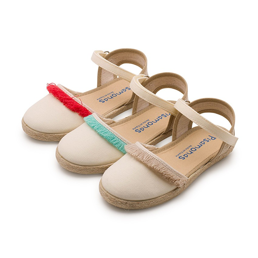 Valencia-style Fringed Sandals With Velcro