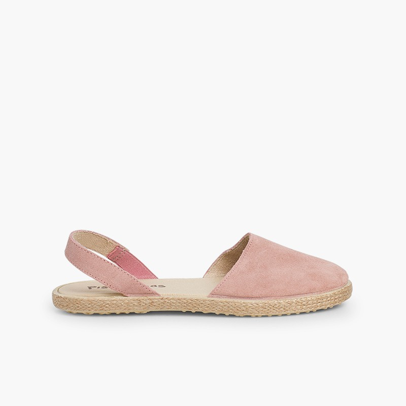 Closed Toe Suede Sandals for Women and Girls