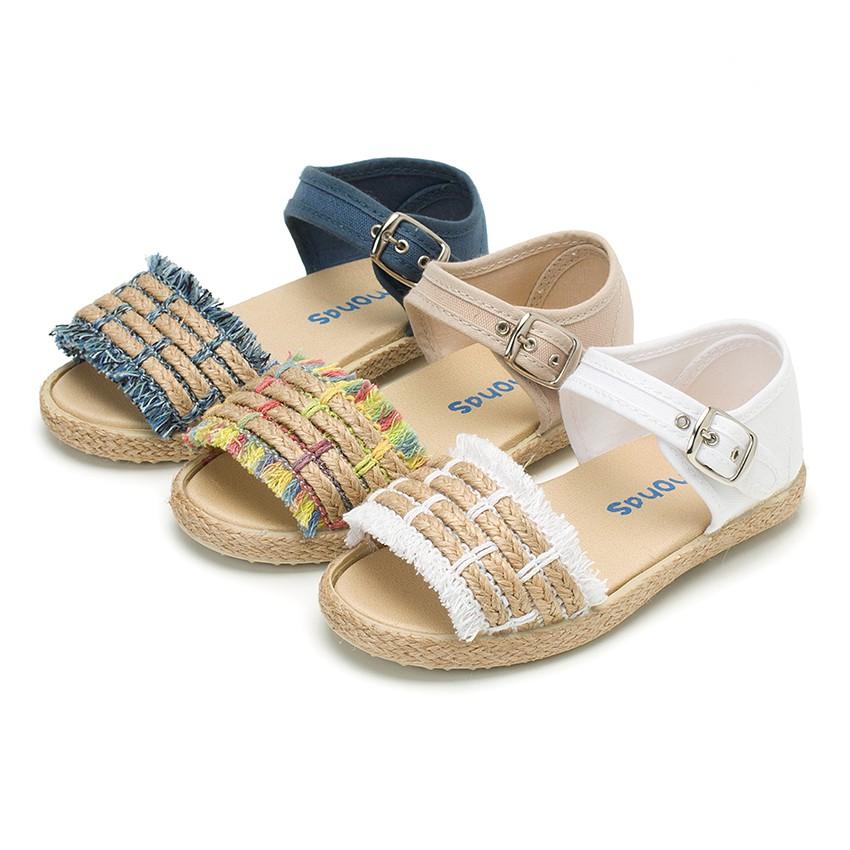Fringed Espadrille Style Sandals