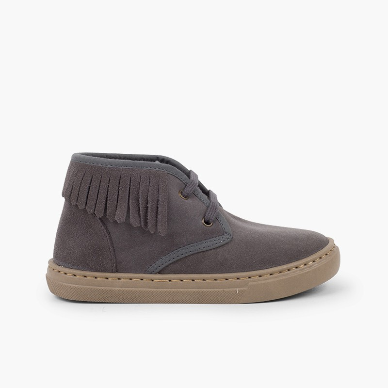 High Top Trainers with Fringe for Kids