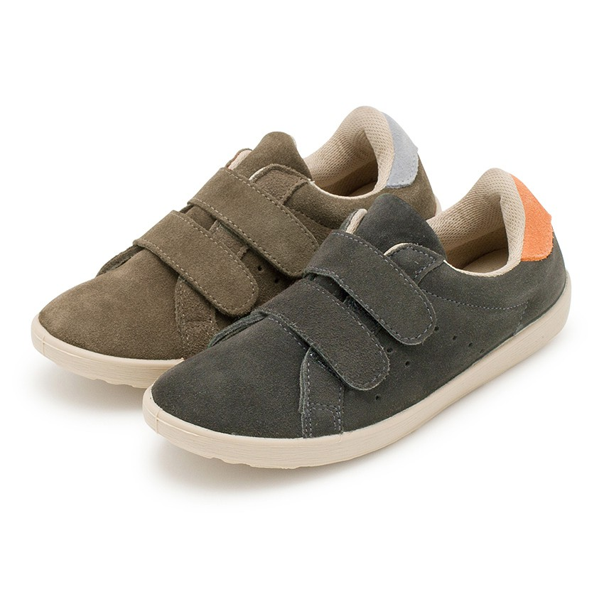 Suede sneakers with Velcro for kids