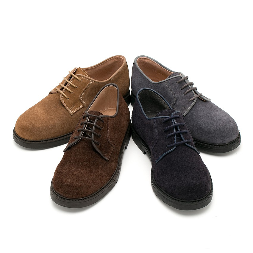 Suede Blucher shoes