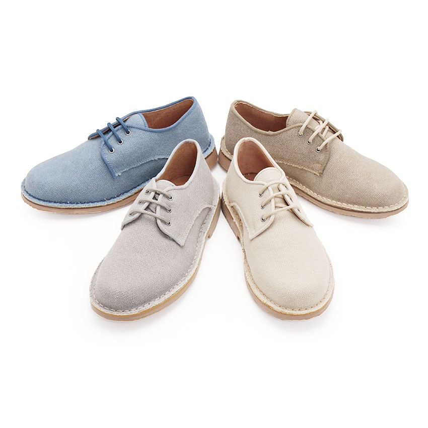 Mens & Boys Canvas Blucher Shoes