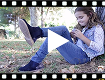 Video from Girls Chelsea Boots with Glitter