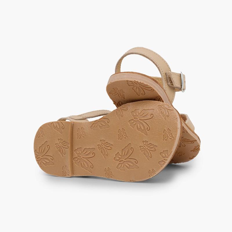 Plain Crossed Strap Flat Sandals
