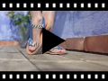 Video from Animal Print Leather Sandals