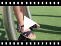 Video from Plain Crossed Strap Flat Sandals