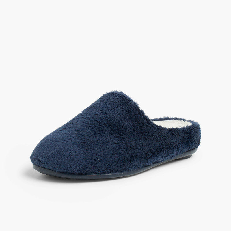 Soft furry house slippers