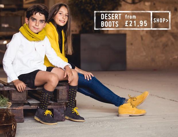DESERT BOOTS FOR CHILDREN 2017