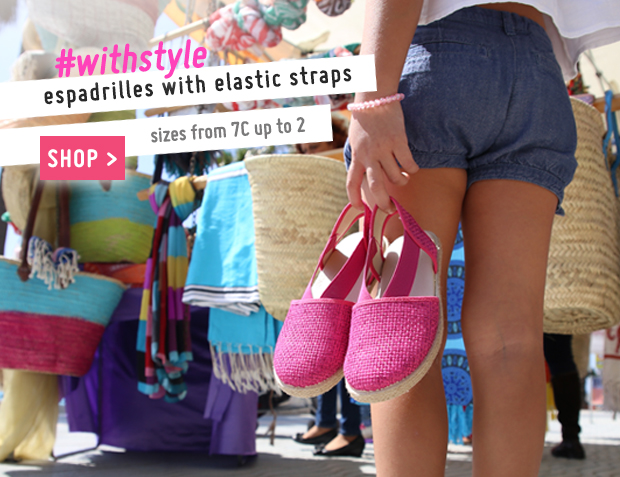 Elasticated Espadrilles for Girls Collection Spring Summer 2017