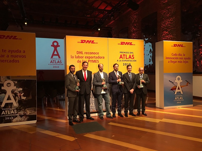 Pisamonas wins a prize at the 2016 DHL Atlas Exports Awards